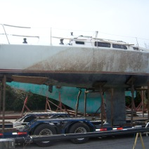 Damaged Sailboat
