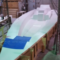 One Off sailboat Deck Mold ready for layup